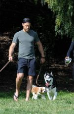Julianne Hough With her dogs at Lake Hollywood Park in LA