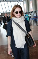 Julianne Moore All smiles as she leaves from Nice Airport after the 72nd annual Cannes Film Festival