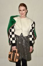 Julianne Moore Attends the Louis Vuitton Cruise 2020 Fashion Show at TWA Terminal in JFK Airport, New York