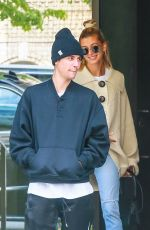 Justin Bieber and his wife Hailey Baldwin are in a good mood for a day out in NYC