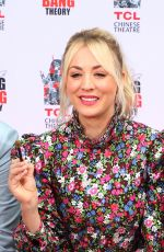 Kaley Cuoco At The Big Bang Theory Cast Handprint Ceremony at TCL Chinese Theater in LA