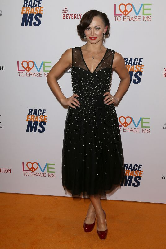 Karina Smirnoff Arrives to The 26th Annual Race to Erase MS Gala held at The Beverly Hilton in Beverly Hills