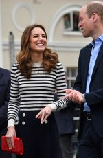 Kate Middleton, Duchess of Cambridge and Prince William arrive to launch the King