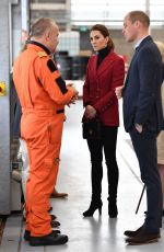 Kate Middleton (Duchess of Cambridge) Visiting Caernarfon Coastguard Base in Wales