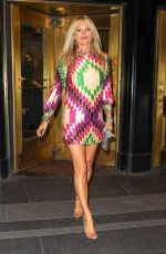 Kate Moss Wears a colorful mini dress while heading to the Met-Gala afterparty in NYC