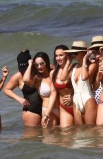 Keleigh Sperry With friends for her bachelorette party in Miami