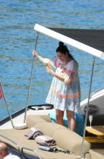 Kelly Brook On a yacht in Mallorca