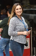 Kelly Brook Outside Global radio studios in London