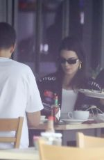 Kendall Jenner and Fai Khadra enjoy lunch together at Toast In West Hollywood