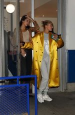 Kendall Jenner & Hailey Baldwin Grab Ice Cream after dinner at bar pitti in NYC