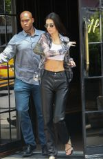 Kendall Jenner Shows off her toned tummy as she steps out in NYC