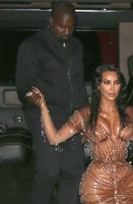 Kim Kardashian and Kanye west return from the Met Gala at the Mark Hotel in NYC