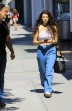 Kira Kosarin and her father Danny Kosarin go shopping in Studio City
