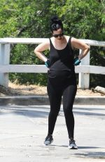 Krysten Ritter Out for a workout hike with Adam Granduciel and their pooch in LA