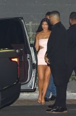 Kylie Jenner Spotted leaving the launch event for her new skin care line at Goya Studios in West Hollywood
