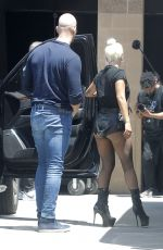 Lady Gaga Arriving to the studio in Hollywood