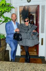 Lady Gaga Leaves pre Met Gala party at Anna Wintour