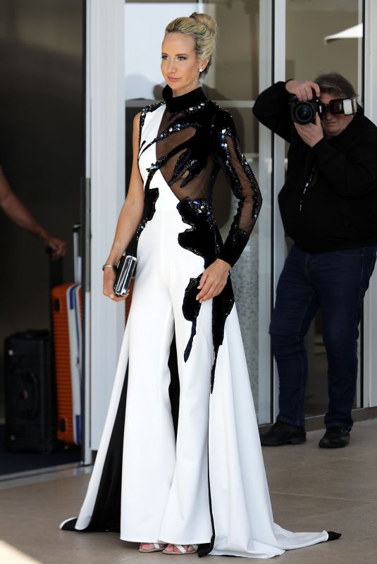 Lady Victoria Hervey Leaving Hotel Martinez in Cannes