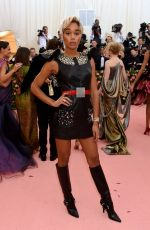 Laura Harrier At The 2019 Met Gala Celebrating Camp: Notes on Fashion at Metropolitan Museum of Art in New York City