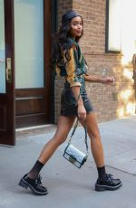 Laura Harrier Leaving The Greenwich Hotel in NYC