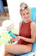 Lauren Bushnell In a one piece as she hangs poolside at the Neutrogena Hydro Boost Haus in Palm Springs