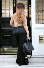 Lauren Goodger At Hair salon at Mayfair, London