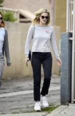 Lili Reinhart Sports an out of office sweater after leaving an office building with a gal pa, West Hollywood