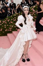 Lily Collins At 2019 Met Gala in NYC