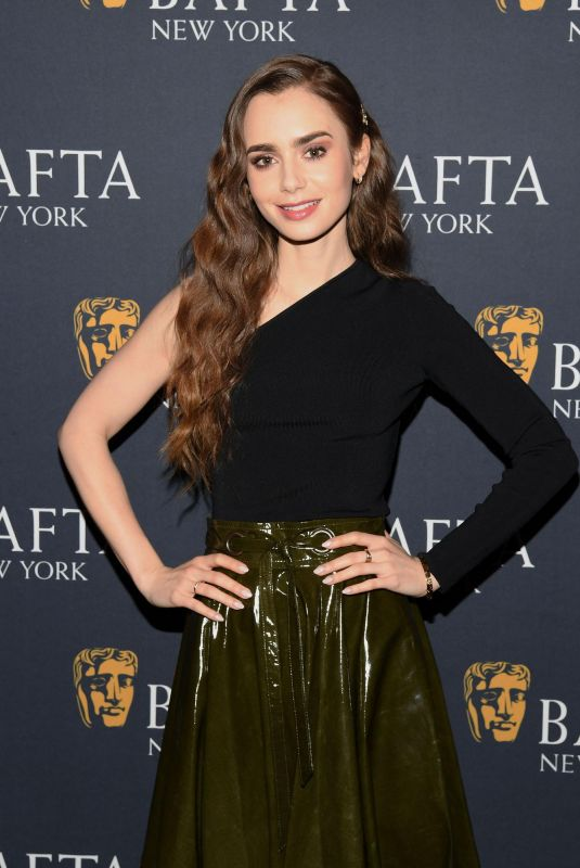 Lily Collins At BAFTA New York