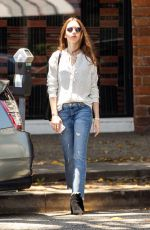 Lily Collins At il Piccolino Italian Restaurant in West Hollywood