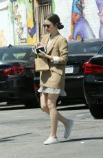 Lily Collins At Mind & Body Acupuncture in LA