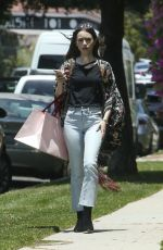 Lily Collins Heading to a Birthday Party in Los Angeles