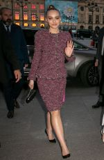 Lily-Rose Depp At CHANEL J12 Cocktail on Place Vendome in Paris