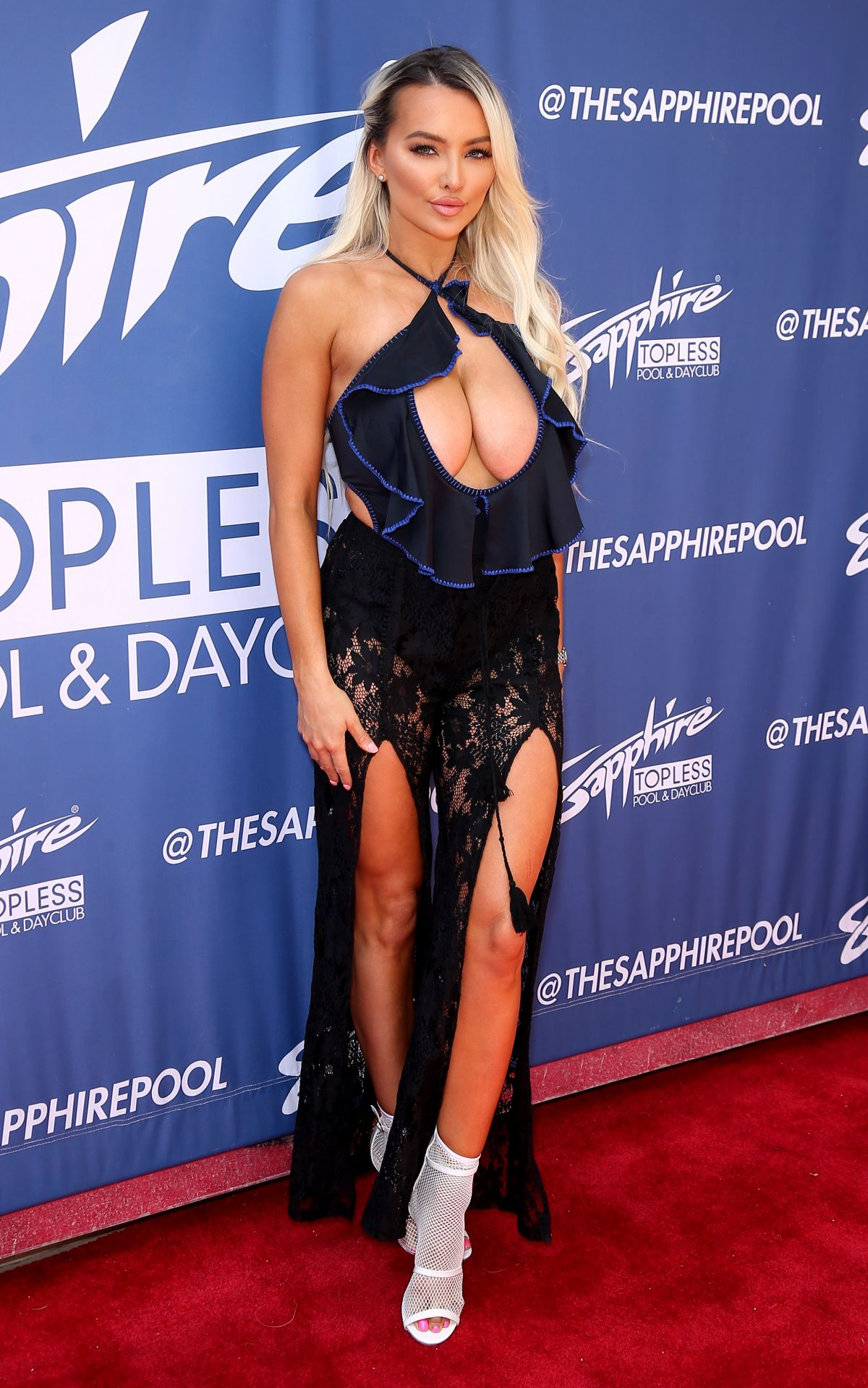 Lindsey Pelas At Sapphire Topless Pool and Dayclub in Las