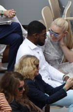 Lindsey Vonn Watching Serena Williams on day five of The Roland Garros 2019 French Open tennis tournament in Paris