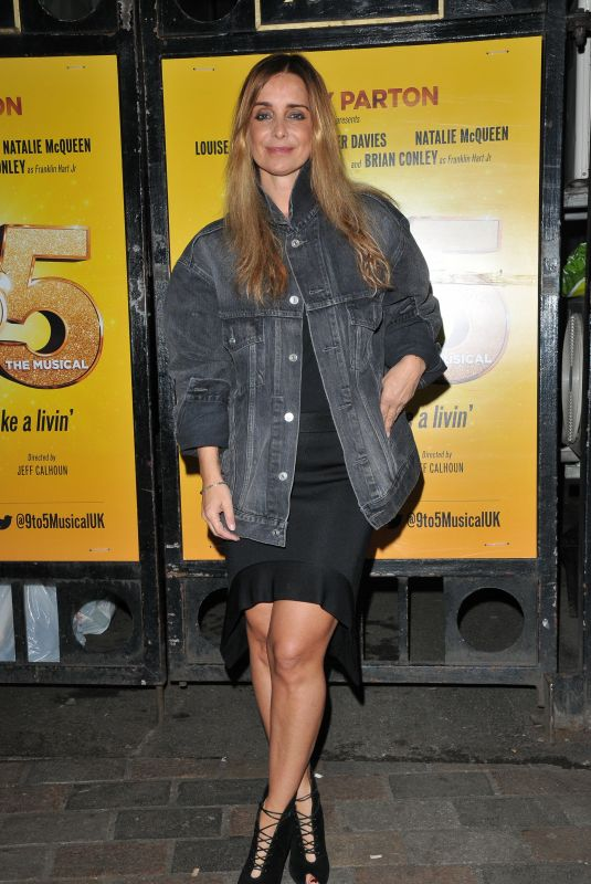 Louise Redknapp Leaving Savoy Theatre in London