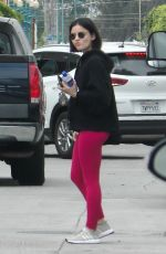 Lucy Hale Heading to the gym in Studio City