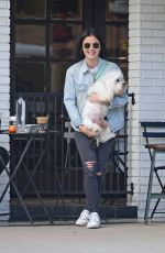 Lucy Hale Out for coffee with Elvis in LA