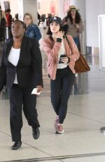 Lucy Hale Seen at LAX Airport