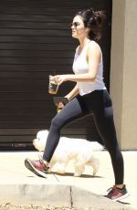 Lucy Hale Took her dog Elvis on a mid afternoon hike through Hollywood Hills
