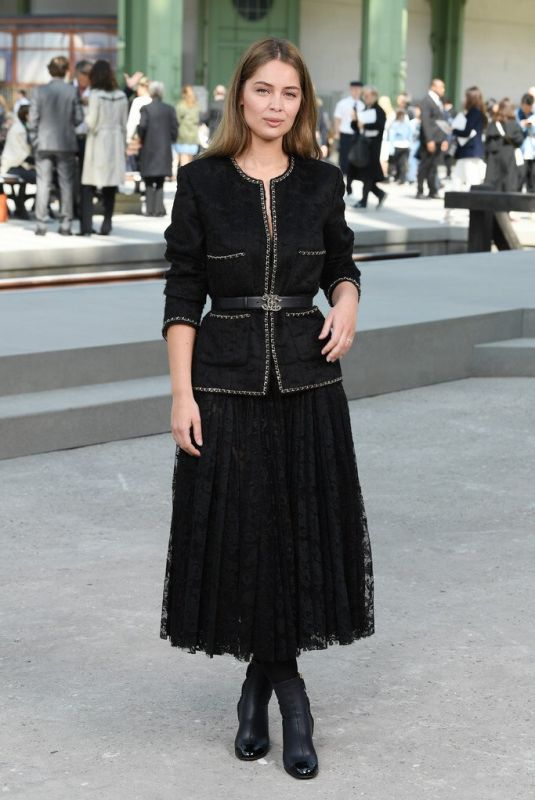 Marie-Ange Casta attends the Chanel Cruise 2020 Collection In Le Grand Palais, Paris