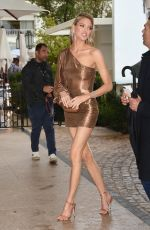 Martha Hunt Arriving back at the Martinez Hotel in Cannes