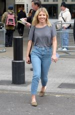 Mollie King seen At BBC Radio One Studios in London