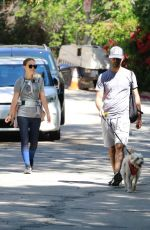 Natalie Portman & Benjamin Millepied Go hiking with their child and their dog in Los Feliz