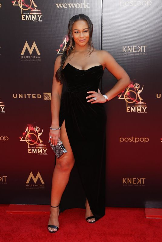Nia Sioux At 46th Annual Daytime Emmy Awards, Pasadena Civic Auditorium, Los Angeles
