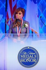 Paula Abdul At 34th Annual Ellis Island Medals Of Honor at Great Hall on Ellis Island in New York City