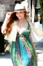 Phoebe Price Looks stunning in a green maxi dress as she enjoys shopping at Grand Park in Los Angeles