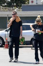 Pixie Geldof and George Barnett spend their Sunday morning shopping at the Melrose Trading Post