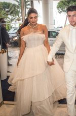 Priyanka Chopra & Nick Jonas At the Martinez hotel during the 72nd annual Cannes Film Festival in Cannes, France