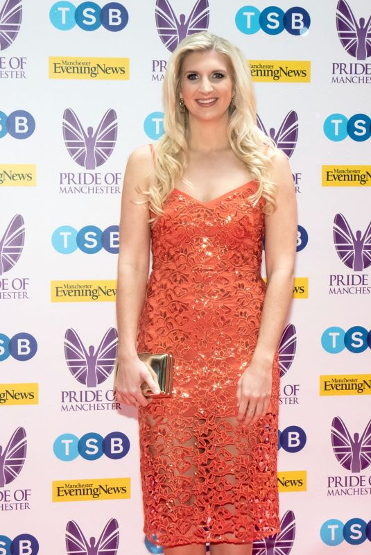 Rebecca Adlington Attends the Pride of Manchester Awards 2019 at Waterhouse Way in Manchester